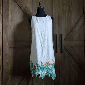 Mara Hoffman Embroidered Floral Swim Dress
